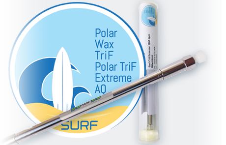 Surf logo and column