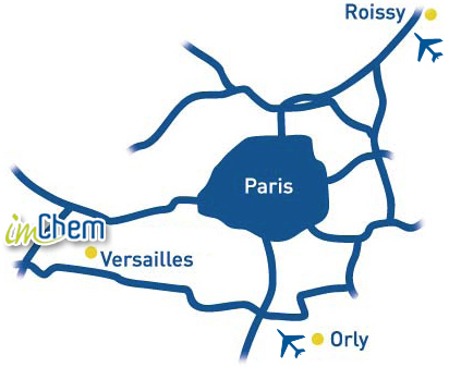 imChem at Versaille, situation map around Paris